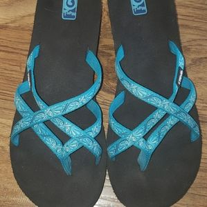 Teva wedge strappy sandals